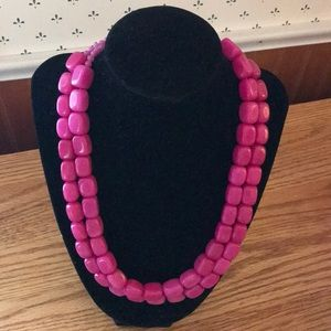 Beautiful Opaque Pink Double Strand Necklace